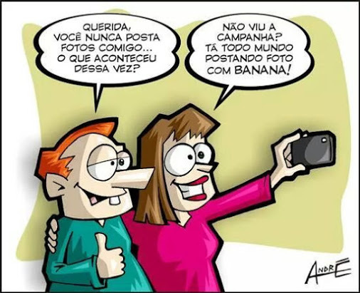Charge de selfie com banana