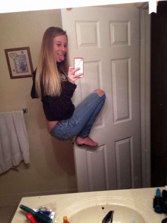 Selfies fails! Grudada na porta!